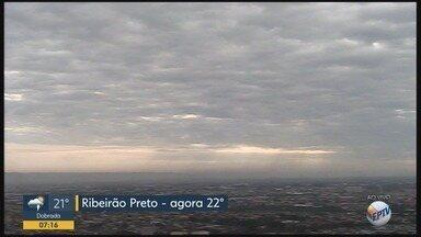 Confira a previsão do tempo nesta terça-feira (16) em Ribeirão Preto, SP - Temperatura máxima chega aos 33°C.