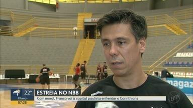 Franca Basquete enfrenta o Corinthians na estreia do campeonato NBB - Técnico Helinho comenta as estratégias para partida desta terça-feira (16).