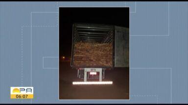 PRF apreendeu quase quarenta e três metros cúbicos de madeira serrada - A carga seguia de caminhão de Paragominas para o Maranhão.