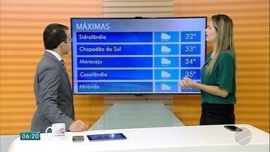 Confira a previsão do tempo para esta terça-feira (16) em MS - Confira a previsão do tempo para esta terça-feira (16) em MS.