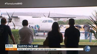 Avião é atingido por raio durante voo em Vitória da Conquista - O avião precisou fazer um pouso de emergência; confira.