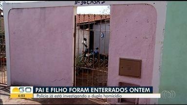 Pai e filho mortos dentro de casa são enterrados em Itumbiara - Polícia já está investigando o assassinato dos dois.