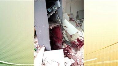 Polícia procura cinco suspeitos de explodirem posto bancário no interior do Tocantins - Três explosões destruíram o prédio e o caixa eletrônico. Este era o único posto da região.
