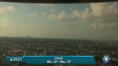 Veja a Previsão do Tempo para esta segunda-feira - Confira a previsão do tempo em todo o Estado.