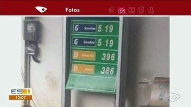 Preço de gasolina em Cachoeiro de Itapemirim continua alto - Moradores mostram os valores nos postos.