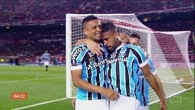 Grêmio vence River Plate na Argentina, pela Libertadores da América - Michel, autor do gol, ficou afastado por 5 meses devido a lesão na coxa direita.
