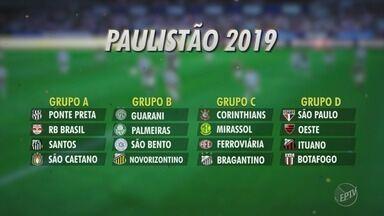 Sorteados os grupos do Campeonato Paulista de 2019 - A região de Campinas tem três representantes.