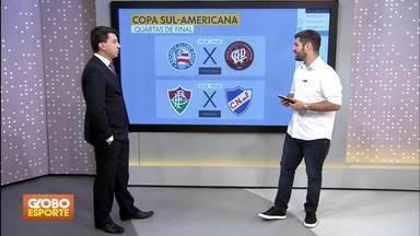 Brasileiros entram em campo hoje pela Copa Sul-americana - Bahia e Atlético-PR se enfrentam na Fonte Nova. Fluminense recebe o Nacional, do Uruguai, no Nilton Santos.