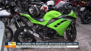 Número de morte de motoqueiros sube 70% na Capital - Segundo policiamento de trânsito, campanhas e blitz não estão fazendo efeito.