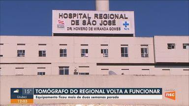 Tomógrafo do Hospital Regional volta a funcionar após duas semanas parado - Tomógrafo do Hospital Regional volta a funcionar após duas semanas parado