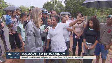 Moradores de Casa Branca pedem abastecimento de água - MG Móvel está de volta ao distrito de Brumadinho. No mês passado nós estivemos lá e vimos que o abastecimento de água não é suficiente para os moradores. E é a solução para esse problema que eles estão querendo.