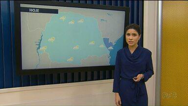 Previsão do tempo tem alerta de temporais - Para sexta-feira continua previsão de chuva.