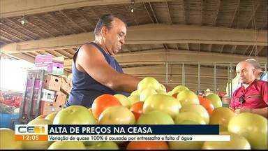 Alta de preços na Ceasa é causada por entressafra e falta d'água - Saiba mais em g1.com.br/ce