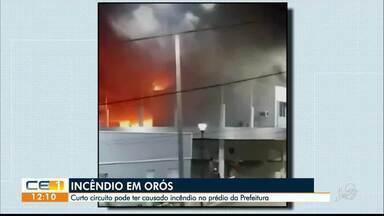 Curto circuito pode ter causado incêndio no prédio da Prefeitura em Orós - Saiba mais em g1.com.br/ce