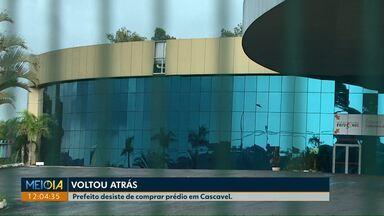 Prefeito Leonaldo Paranhos desiste de financiamento para comprar antigo atacado - O local seria transformado em um novo Centro de Eventos de Cascavel.