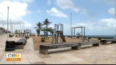 Comunidade pede a revitalização de praça na Vila do Mar no Pirambu - Saiba mais em g1.com.br/ce