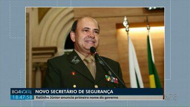 Ratinho Júnior anuncia secretário de Segurança para o governo - Foi o primeiro nome anunciado pelo governador eleito.