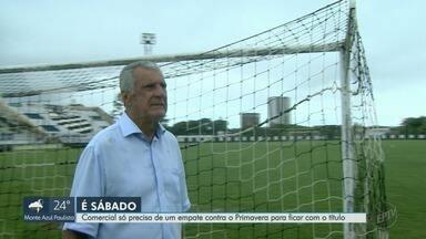 Comercial e Primavera decidem o título da Segundona do Paulista - A chuva atrapalhou os treinos do leão, mas nada tira o sorriso e a confiança da equipe.