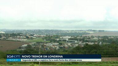 Tremor em Londrina - Abalo teve intensidade de 2,1 graus na escala Richter