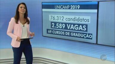 Comvest divulga locais de prova da 1ª fase do Vestibular da Unicamp - Primeira etapa do processo seletivo ocorre no dia 18 de novembro. Estão inscritos 76. 312 candidatos.