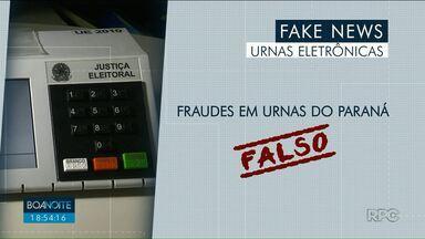 """Informações falsas sobre urnas eletrônicas circulam em redes sociais - Veja o que é fato e o que é """"fake"""" a respeito da votação do próximo domingo, 28."""