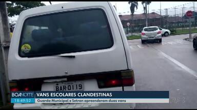 Guarda Municipal flagra transporte escolar clandestino em Curitiba - Duas vans foram apreendidas.