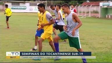 Castelo tem treino pesado para semifinais do Tocantinense Sub-19 - Castelo tem treino pesado para semifinais do Tocantinense Sub-19