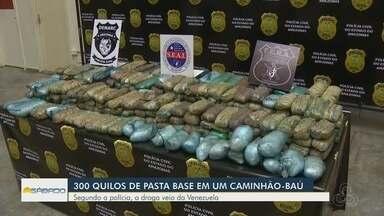 Cerca de 300 Kg de drogas são encontrados em carga de melancia na feira da Manaus Moderna - Caminhoneiro foi detido e encaminhado a audiência de custódia.