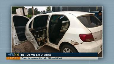 Carro com dívida de quase 100 mil reais é apreendido - Com o valor das multas seria possível comprar cinco vezes o mesmo carro.