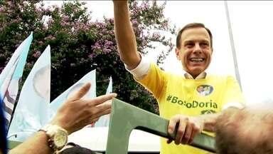 João Doria encerra a campanha nas zonas Sul e Leste - João Doria, do PSDB, encerrou a campanha nas zonas Sul e Leste da capital.