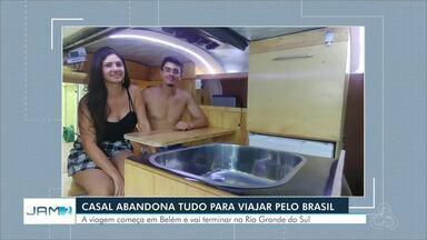 Casal do AM larga empregos para viver sobre 'rodas' e viajar pelo Brasil - A viagem começa em Belém e vai terminar no Rio Grande do Sul.
