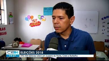 Eleitores da região do Cariri também se preparam para segundo turno - Saiba mais em g1.com.br/ce