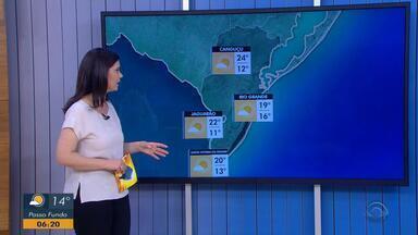Tempo: segunda-feira (29) começa com baixas temperaturas no RS - A máxima chega aos 26ºC em Porto Alegre.