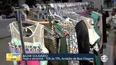 Bazar solidário tem verba revertida para auxiliar instituição que atende crianças - Evento acontece no Arcádia de Boa Viagem, na Zona Sul do Recife