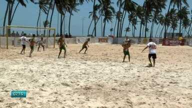 Etapa final da Copa Nordeste de Futebol de Areia é realizada na Praia do Pontal da Barra - Confira a reportagem.