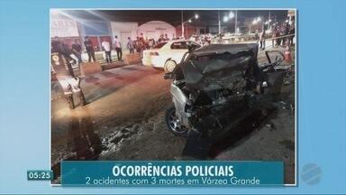 Carro anda na contramão, causa acidentes e duas pessoas morrem - Carro anda na contramão, causa acidentes e duas pessoas morrem