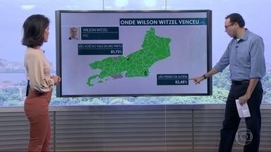 Wilson Witzel vence em 89 municípios do estado - Os municípios com a votação mais expressiva para Witzel foram São Pedro da Aldeia e São José do Vale do Rio Preto.