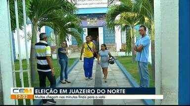 Muitos eleitores chegam nos minutos finais de votação em Juazeiro do Norte - Saiba mais em g1.com.br/ce