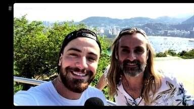 André Dias guia Felipe Titto no Pão de Açúcar - Veja como foi o passeio dos dois no cartão postal carioca