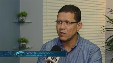 A trajetória do Governador eleito: Marcos Rocha - O coronel Marcos Rocha nasceu no subúrbio do Rio de Janeiro.