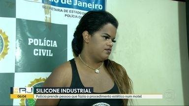 Polícia prende falsa médica antes de iniciar procedimento estético em Niterói - A Polícia recebeu a denúncia de uma falsa médica que estava aplicando silicone industrial em um motel de Niterói.