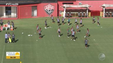 Vitória segue em treinamento para jogo contra o Paraná - Confira as notícias do rubro-negro baiano.