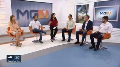 Deputados federais eleitos do Triângulo Mineiro são entrevistados no MG1 - Ao vivo, Greyce Elias (Avante), André Janones (Avante), Weliton Prado (Pros), Zé Silva (SD), e Zé Vitor (PMN) falam sobre os mandatos na Câmara dos Deputados em Brasília a partir de 2019.