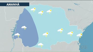O feriado vai ser de tempo instável pelo Paraná - só no domingo(4) deve melhorar o tempo