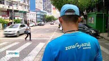 Motoristas reclamam de ausência de monitores no Zona Azul - Sistema foi implantado no Centro de Manaus.