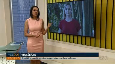 Idoso é agredido durante assalto em Ponta Grossa - Crime foi na rua Balduíno Taques, na noite dessa sexta-feira (02).