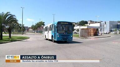 Criminoso faz arrastão em ônibus da linha 724 em Cariacica - Até o momento ninguém foi preso.