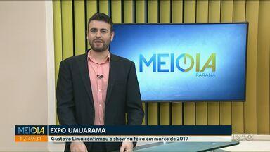 Gusttavo Lima é uma das atrações da ExpoUmuarama 2019 - A feira vai ser entre 7 e 17 de março no parque de exposição da cidade.
