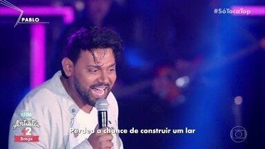 Pablo canta 'E aí, Bê?' - Artista se apresenta no ranking 'Rádio Artista Brega'