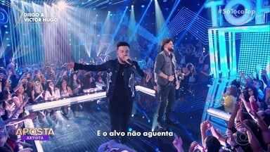 Diego e Victor Hugo cantam 'O Alvo' - Dupla é a aposta da semana no 'Só Toca Top'